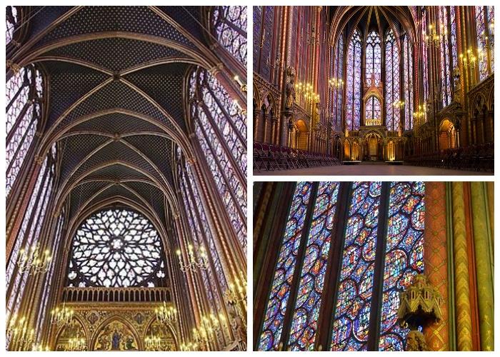 Некоторые витражи капеллы Sainte-Chapelle — это уникальные репродукции, но большинство из них сохранились со времен средневековья.