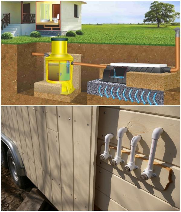 Без подключения к центральным или индивидуальным канализационным системам ни один современный дом существовать не сможет. | Фото: designerdreamhomes.ru/ viborplit.ru.
