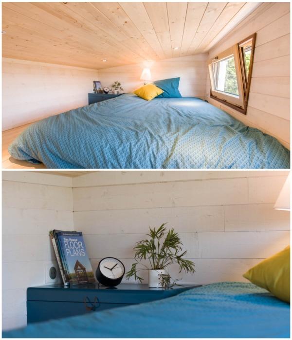 На втором ярусе удалось организовать полноценную спальню (Solaris).   Фото: flipboard.com.