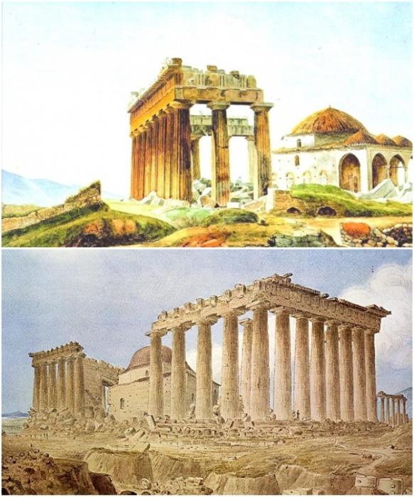 Греческий Парфенон выступал в роли Великой мечети с 1458–1687 гг (Афины, Греция). | Фото: as-salam.ru.