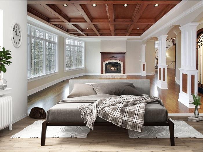 С помощью фотообоев можно визуально увеличить комнату.