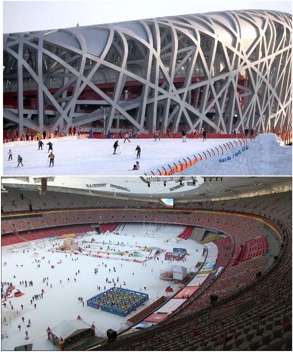 В Пекине не просто готовятся к проведению Олимпиады, спорткомитет и власти всеми способами стараются популяризировать зимние виды спорта. | Фото: english.visitbeijing.com.cn/ pinterest.cl.