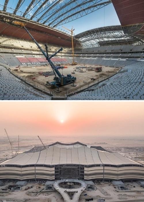 Строительство Al Bayt Stadium подходит к концу (Аль-Хори, Катар). | Фото: zen.yandex.ru.