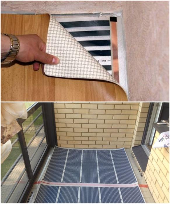 Система «теплый пол» идеально подойдет для организации обогрева лоджии/балкона. | Фото: chrome-effect.ru.