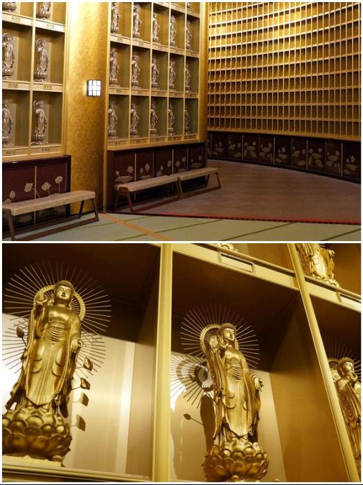 На одном из ярусов комплекса собрана коллекция золотых статуй Будды (Будда Усику Дайбуцу). | Фото: ms-my.facebook.com/ bigpicture.ru.