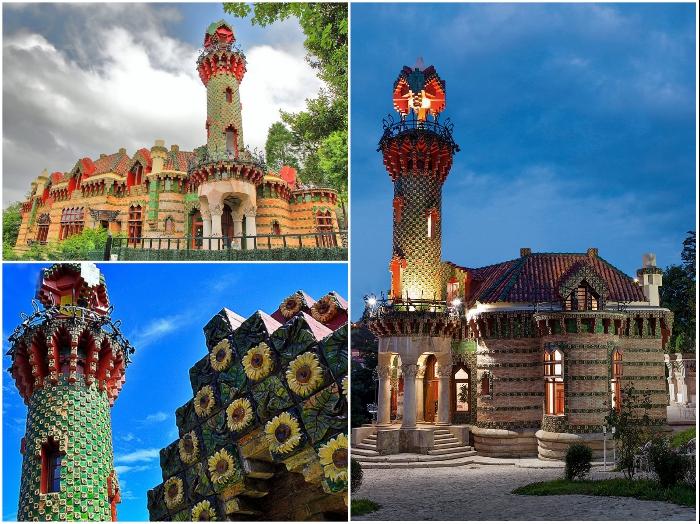 Дом Эль Капричо (1883 – 1885 гг.) в городе Комильяс на севере Испании имеет минарет, вдохновленный иранской мечетью Шах в Исфахане. | Фото: architecturaldigest.com.