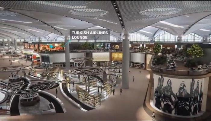 Зона магазинов Duty Free аэровокзала (Istanbul Grand Airport).