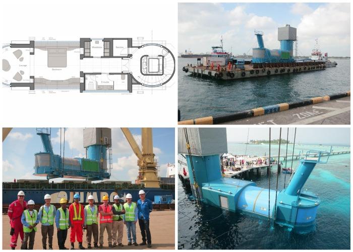 Этапы создания уникальной подводной виллы Muraka.
