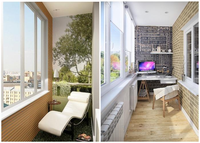 Балкон или лоджию можно превратить в уютную зону отдыха или рабочий кабинет.