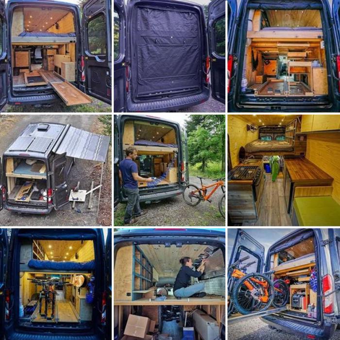 Супругам понадобилось более 1 тыс. часов и 20 тыс. дол. на полное переоборудование автомобиля Ford Transit. | Фото: instagram.com/ faroutride.