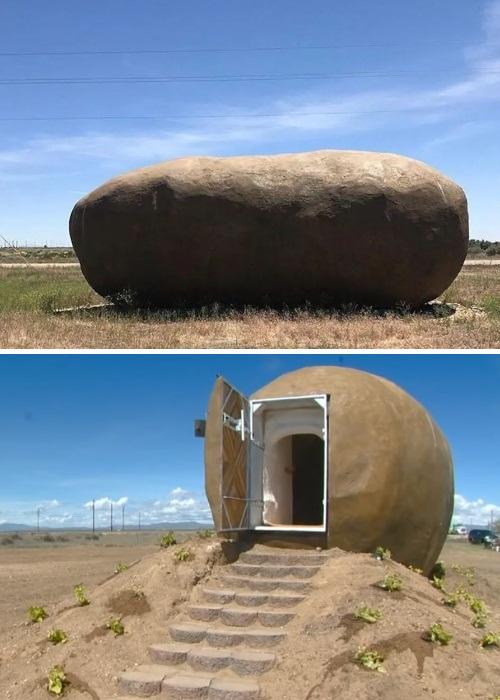 В гигантском картофеле получился комфортабельный мини-отель («Big Idaho Potato Hotel», Айдахо). | Фото: realty.vesti.ru.