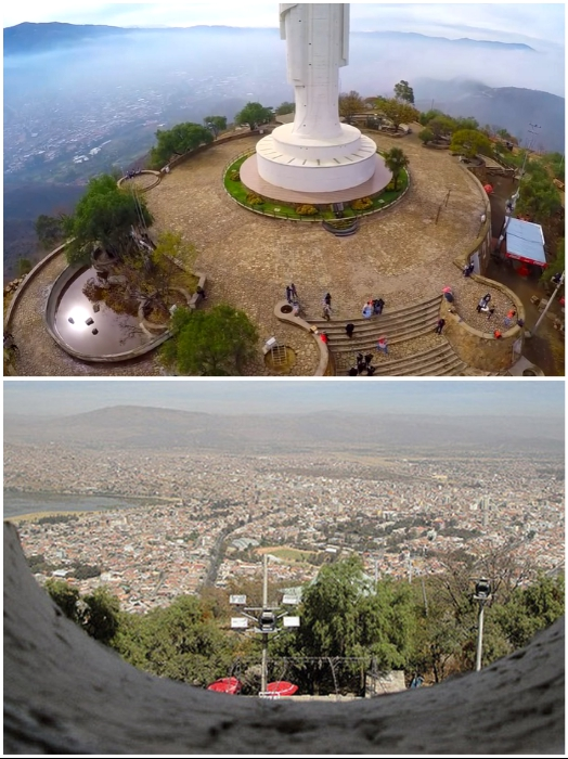 Чтобы добраться к смотровой площадке, придется проделать нелегкий путь (Боливия). | Фото: youtube.com, © LosTiempos Bolivia/ zen.yandex.ru.