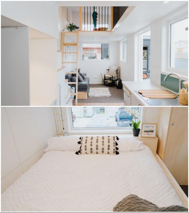 Семейный мини-коттедж Dance Tiny House спроектировала новозеландская компания Build Tiny.