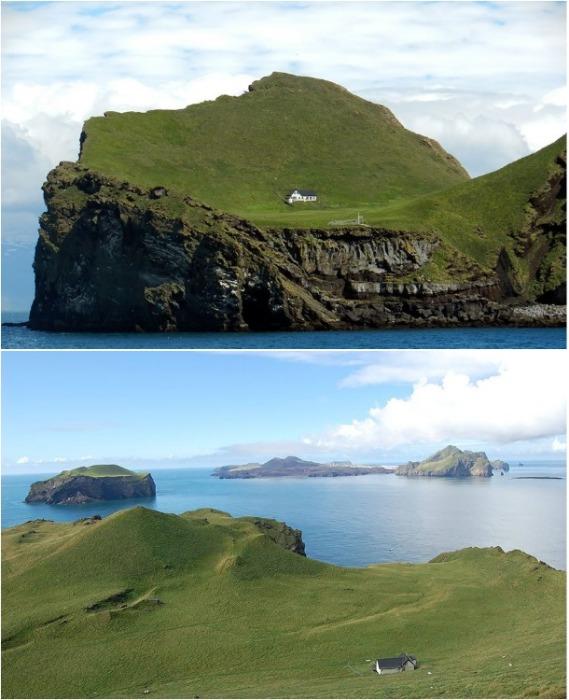Остров Эллидей является пристанищем для самого удаленного от цивилизации дома в мире (Исландия). | Фото: mirkrasiv.ru.