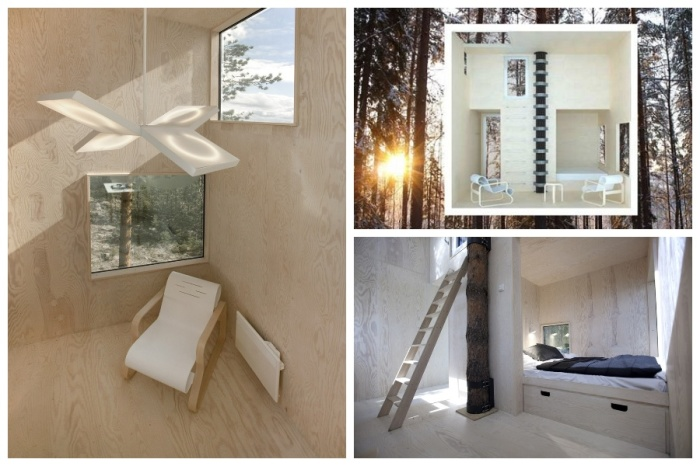 Аскетичный скандинавский дизайн и макет номера-куба «Mirrorcube» (эко-отельTreehotel).| Фото:  ecology.md.