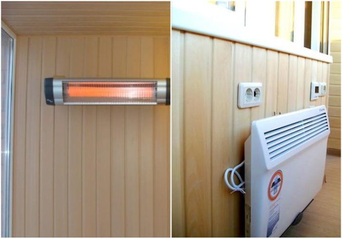 Для обогрева лоджии/балкона лучше использовать электронагревательные приборы. | Фото: europlastbalkon.by.
