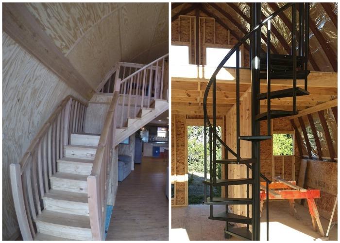 Даже конструкцию лестницы можно придумать самому.