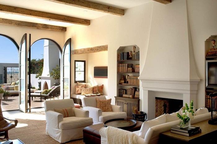 Великолепный и неповторимый интерьер испанского дома.