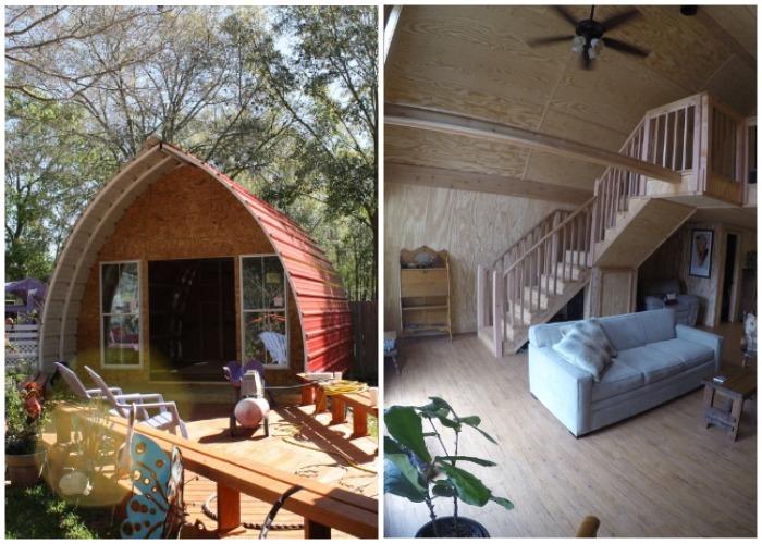 Маленькие арочные домики очень комфортные и мобильные.