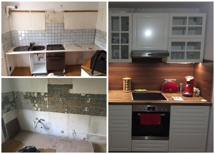 Преображение кухни на съемной квартире всего лишь за 1 день!