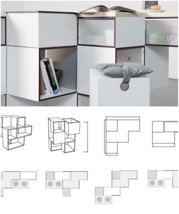 В сложенном виде кухня-конструктор «Carre» занимает всего лишь 1 кв.м. | Фото: ciscoexpo.ru/ remont-39.ru.