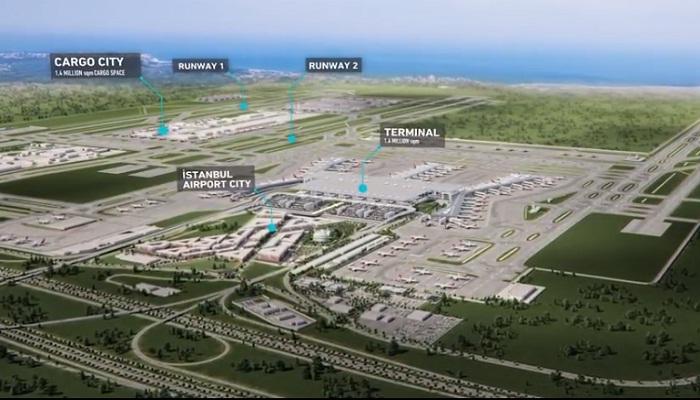 Новый аэропорт «Стамбул» занимает 7,7 га земли.