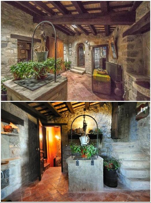 Каменные стены и деревянные балки интерьера отеля-замка позволяют создавать средневековую атмосферу («Castell de Llaes», Испания). | Фото: piligrim.ua/ tripadvisor.es.