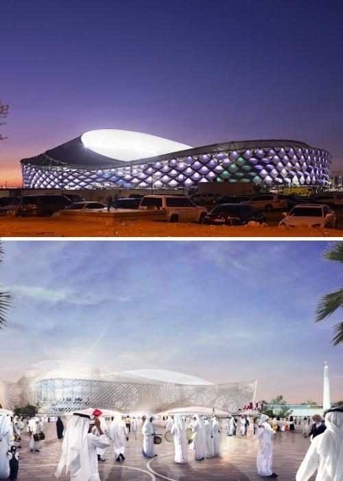 Трибуны арены, отражающей культуру страны-хозяйки, смогут разместить 40 тыс. человек (Al-Rayyan Stadium, Катар-2022). | Фото: pattern-architects.com.