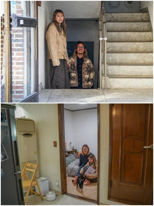 Молодые люди Сеула предпочитают полуподвальные квартиры исключительно из-за финансовой доступности такого жилья (фотограф Пак Чжунь Джун и его подруга). | Фото: bbc.com.