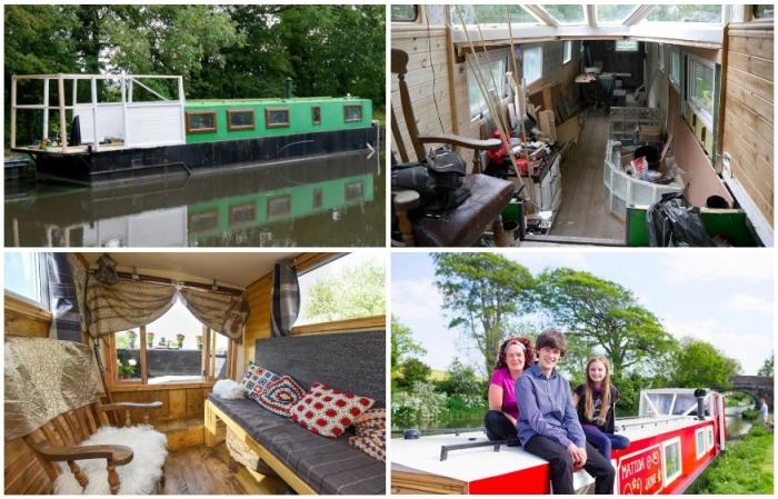 Золотые руки и целеустремленность помогли подростку из старой баржи, сделать отличный летний домик для своей семьи. | Фото: news.myseldon.com.