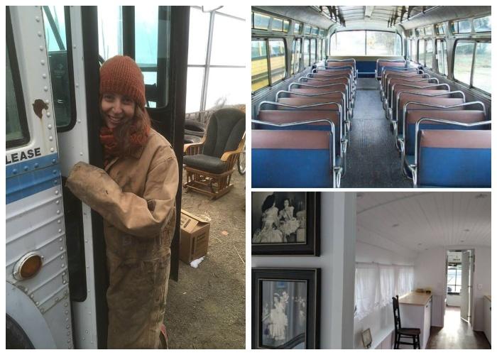 Благодаря творческому вдохновению Джесси Липскин старый автобус превратила в восхитительный дом на колесах «Greyhound».