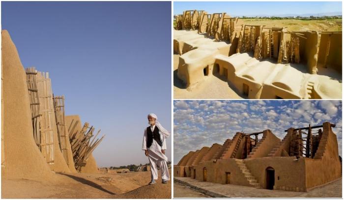 Комплекс ветряных мельниц, расположенный в Наштифан обслуживает единственный человек – Мохаммед Этебари. | Фото: amusingplanet.com/ financialtribune.com.