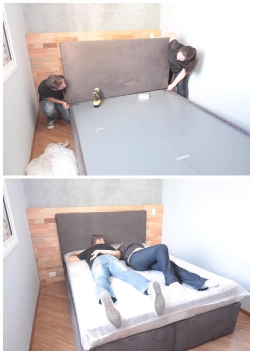 Радости не была предела, когда удалось таки собрать кровать.