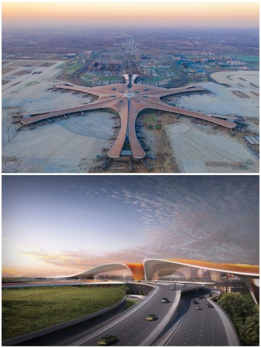 От нового транспортного узла до центра Пекина 46 км (аэропорт «Дасин», Китай). | Фото: bakangakitacchu.blog.jp.