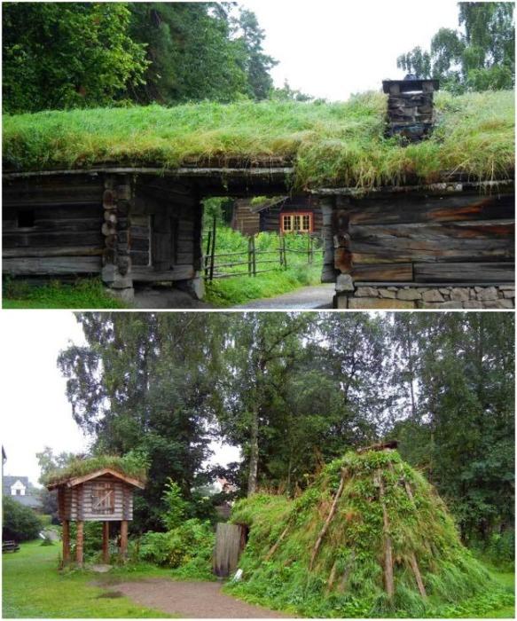 Аутентичные старинные постройки были перенесены на остров-музей Бюдгой (Осло, Норвегия). | Фото: dom.ukr.bio.