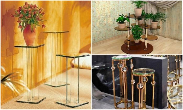 Стеклянные подставки для цветов подходят для любого интерьера. | Фото: pinterest.com.