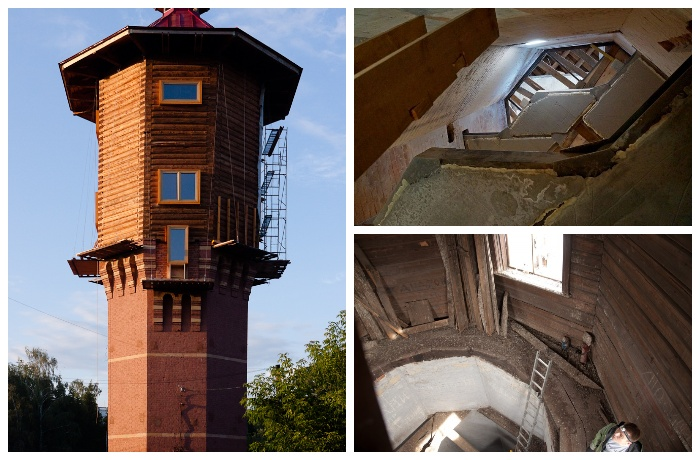 Старинная башня была в плачевном состоянии.