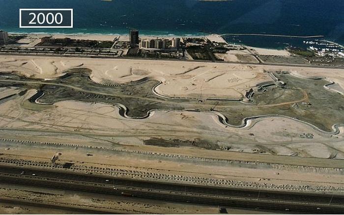 Так выглядел Дубай в 2000 году.