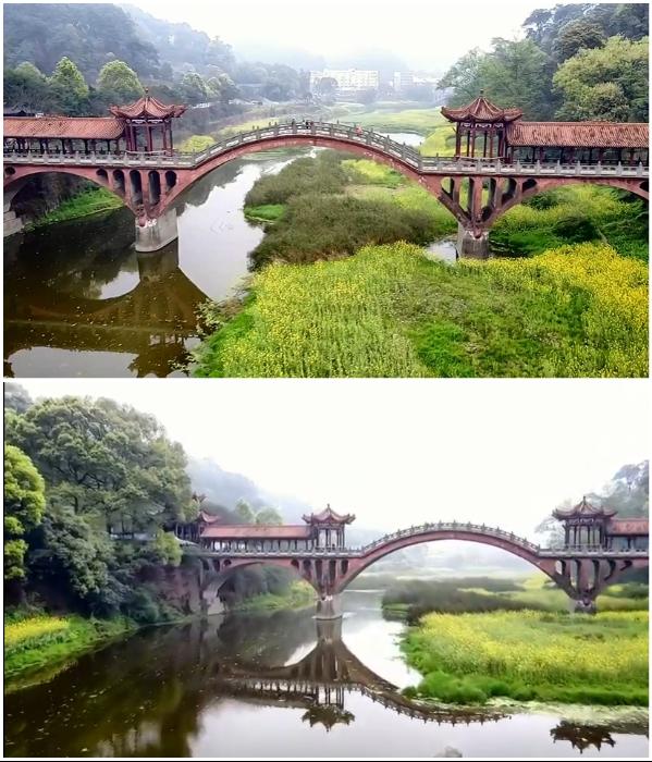 Живописный Лунный мост стал очередным ошеломляющим объектом культовой горы Эмэйшань (Китай). | Фото: youtube.com/ © Stuart Meadows