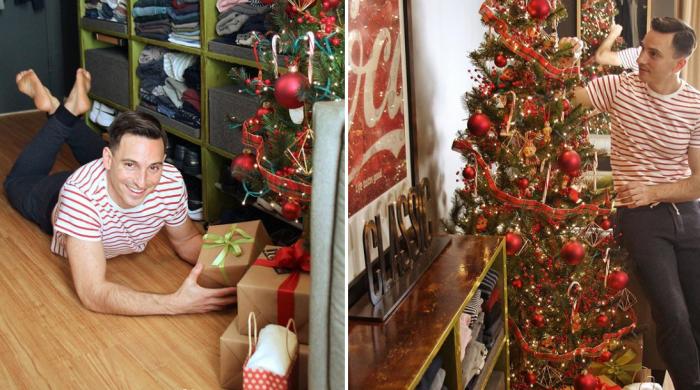 В прихожей, плавно переходящей в гостиную, во время рождественских праздников помещается даже елка. | Фото: instagram.com/ © anthony_triolo.