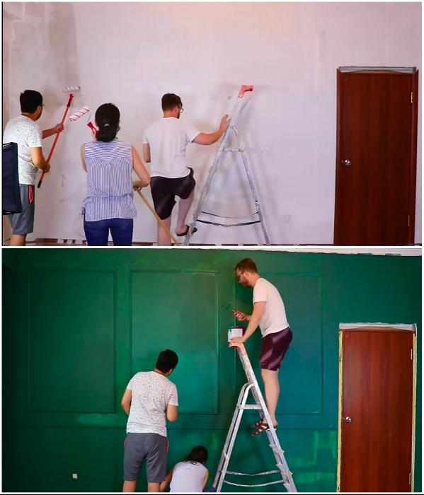 Дело спорится, когда за работу берутся креативные друзья. | Фото: youtube.com/ © Fancy smth.
