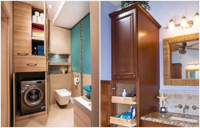В пенал можно спрятать многое и даже стиральную машину. | Фото: mebelindesign.ru.