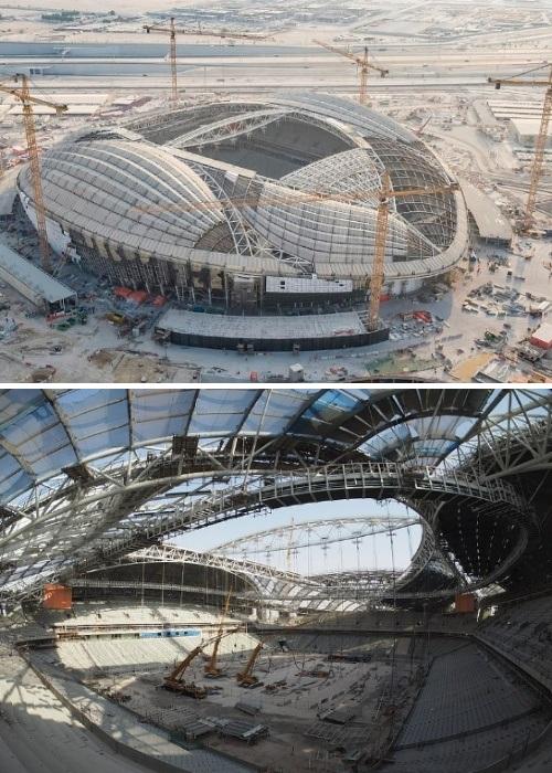 Строительство Al-Wakrah Stadium идет полным ходом. | Фото: sports.ru.