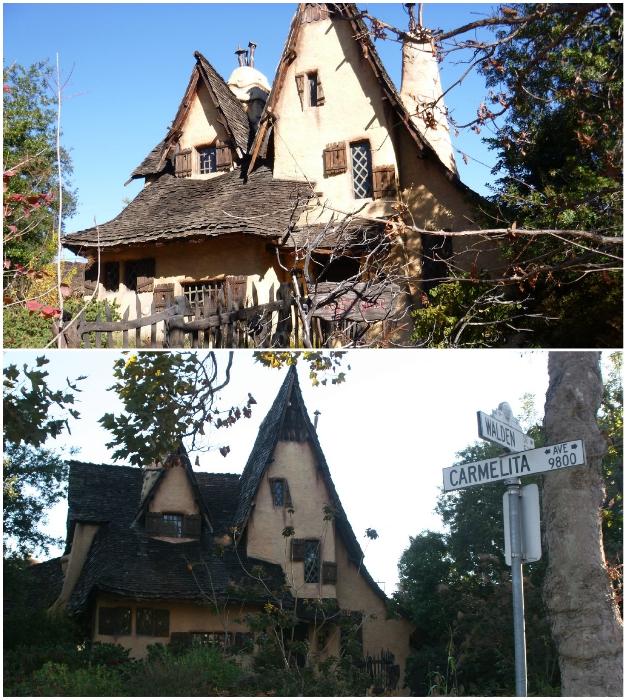 Такую странную избушку в окружении роскошных особняков знаменитостей в Беверли-Хиллз даже сложно себе представить (The Witch's House, Лос-Анджелес).