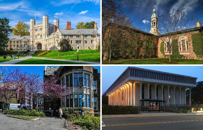 Наряду со старинными неоготическими замками территорию кампуса украшают и более современные здания (Princeton University, США). | Фото: ru.wikipedia.org.
