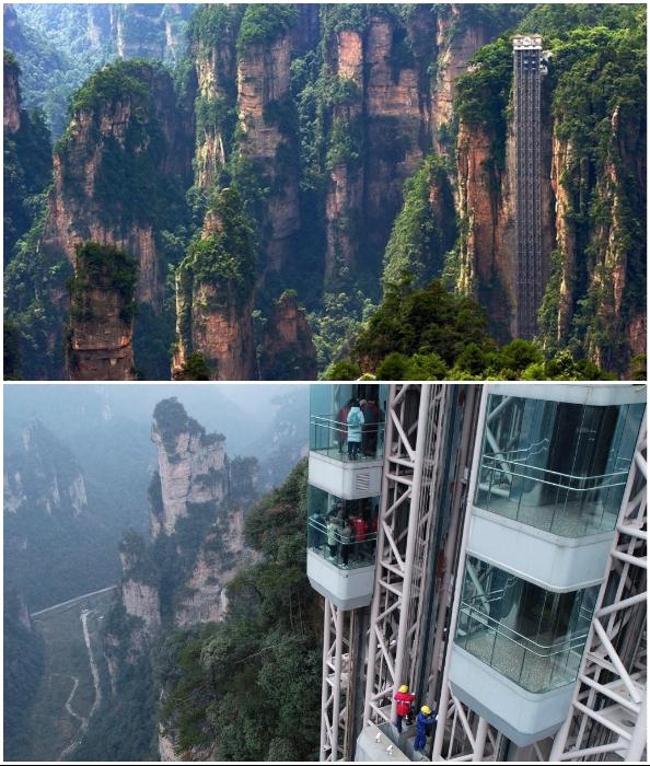 Лифт Байлонг – это самый высокий лифт на планете (Китай).