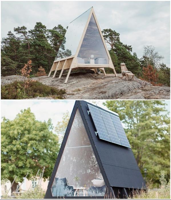 «Nolla Cabin» - это мини-дом, работающий на возобновляемых источниках энергии. | Фото: robinfalck.com/ archdaily.com.