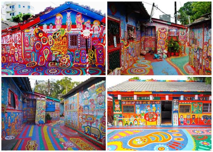 Благодаря такому преображению власти города изменили свои планы (Rainbow Village, Тайвань).