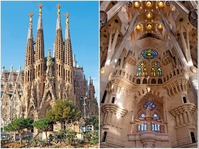 На проектирование и строительство Искупительного храма Святого Семейства Антонио Гауди потратил 42 года своей жизни. | Фото: mymodernmet.com.