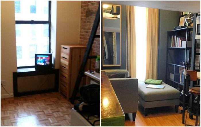 Преображение жилой зоны крошечной квартиры-студии благодаря стараниям Anthony Triolo. | Фото: instagram.com/ © anthony_triolo.